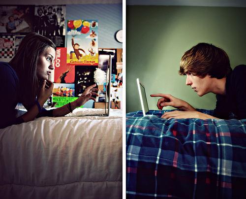 الحب عبر الانترنت